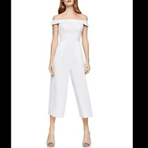 NWT BCBGeneration Off-the-Shoulder White  Jumpsuit